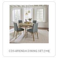 COS-BRENDA DINING SET (1+4)
